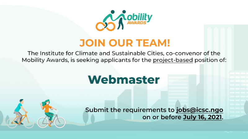 FOR IMMEDIATE HIRING: Mobility Awards Webmaster