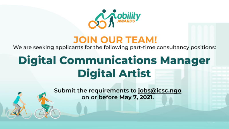 [CLOSED] Mobility Awards Digital Communications Manager and Digital Artist