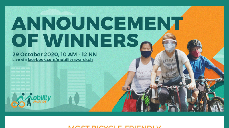 First Mobility Awards hails Pasig, San Juan, Marikina as most bike-friendly cities in NCR